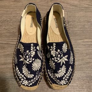 New Womens Soludos Embroidered Espadrille Sz 6